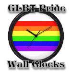 Clocks with GLBT Pride Designs