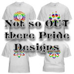 'Out but In' - Simple Rainbow Designs on T-Shirts