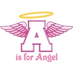 A is for Angel (pink)