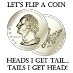 Let's Flip A Coin Adult Humor