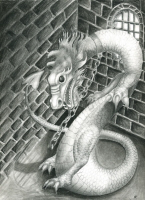 dragon in pencil