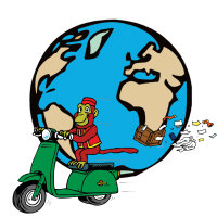 Scootie Travels The World. So come inside and shop