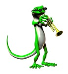 Blues Trumpet Gecko