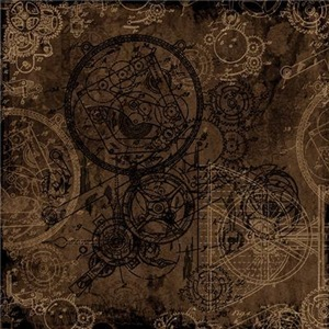 Clockwork Collage Brown