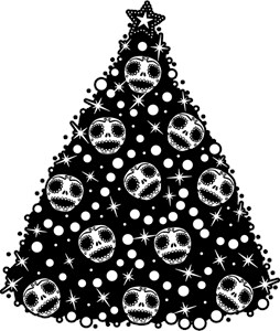 Cute Skull Christmas Tree
