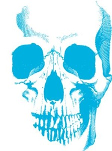 Blue Skull Face