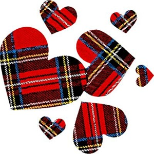 Punk Plaid Hearts