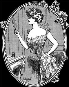 1910 Corset Lady