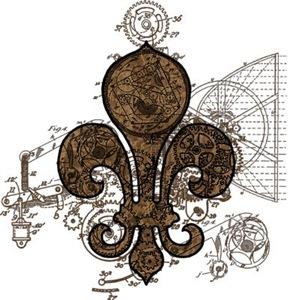 Clockwork Fleur De Lis