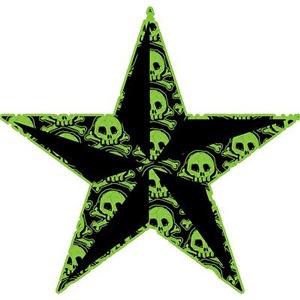 Green Skull Pattern Star