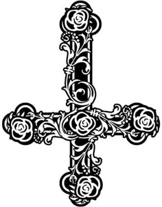 Inverted Cross And Roses