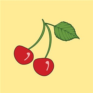 Retro Cherries Yellow