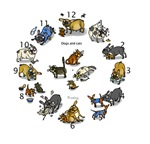Cats and Dogs Clock (Multi)