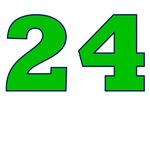 24 Green/Blue