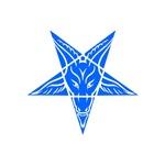 Blue Baphomet Pentagram