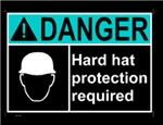 DANGER ! Hard Hat Protection required