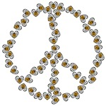 Peace Sign (made of bees)