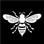 White Honeybee Stamp