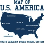 south carolina map of U.S. America (blue)