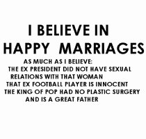 I believe in Happy marriages
