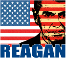 Reagan - Flag face