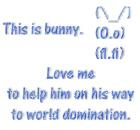 Love me to help bunny