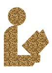 Library Leopard Print Logo