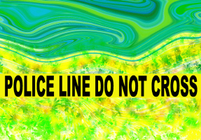 HUMOR/POLICE LINE DO NOT CROSS