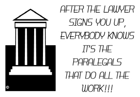 EDUCATION/OCCUPATION-PARALEGALS DO ALL THE WORK
