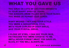 ENTERTAINMENT/POP CULTURE-WHAT YOU GAVE US