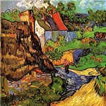 House in Auvers by Vincent van Gogh.