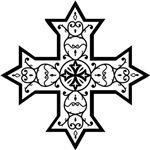 Coptic Cross BW