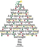 Christmas Tree Gift Poem Mug