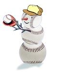 Baseball Snowman Apparel