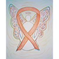 Gold Awareness Ribbon Angel