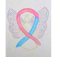 Pink and Blue Awareness Ribbon Angel