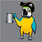 Pirate Parrot with a tankard