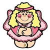Country Style Cute Pink Angel Girl