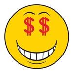Money Eyes (Greedy) Smiley Face