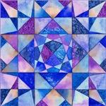 Blue Quilt Watercolor