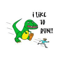 I LIKE TO RUN!  In Color