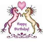 Happy Birthday Rearing Horses