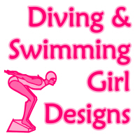 Diving & Swimming Girl Designs