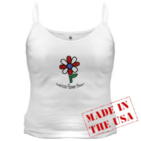 American Flower Power America Hippy Chic T Shirts