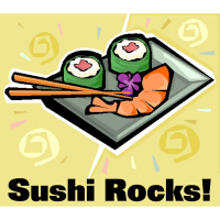 Sushi Rocks California Roll T-Shirts Gifts