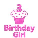 3 Cupcake Birthday Girl