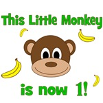 This Little Monkey is Now 1! Banana