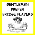 a funny bridge player joke on gifts and t-shirts.