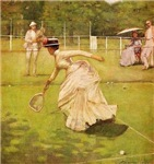 tennis art on gifts and t-shirts.