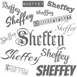 Light Gray Sheffey Fonts - 9574